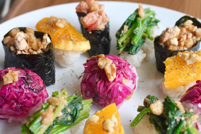 Vegetable Sushi プレート
