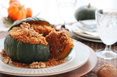 ハロウィンにおすすめのくるみレシピ!人気料理ブロガーかめ代さんが教える「まるごとカボチャの揚げないコロッケ」
