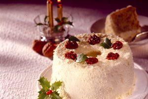 くるみのクリスマス用シフォンケーキ