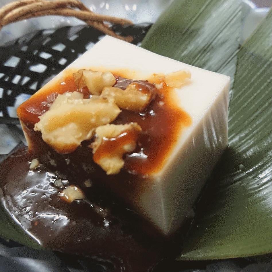 胡桃豆腐 自家製くるみ味噌ソースで